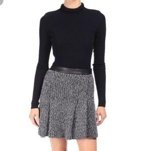Rag & Bone tweed pleated mini skirt 8
